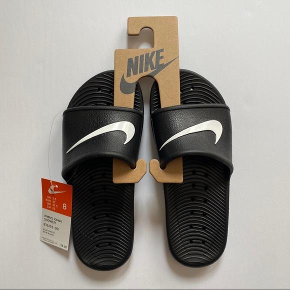 NWB Nike Women's Kawa Shower Slide Sandal in Black
